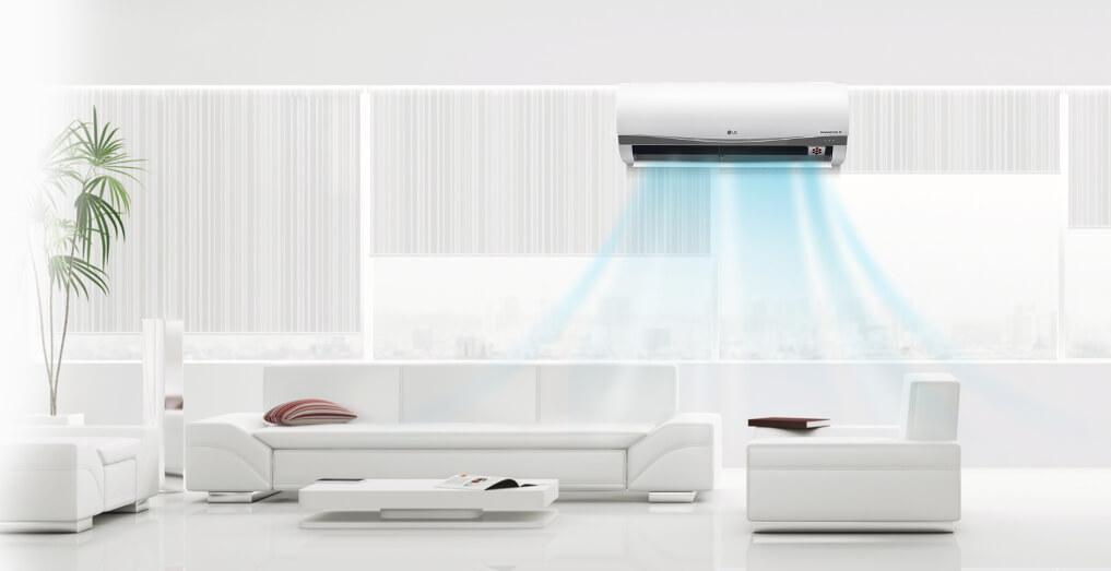 ventilación cruzada salón